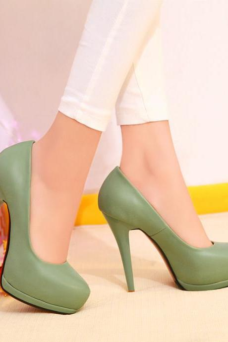 Women Soft Leather Stiletto High Heel Pumps Dress Shoes