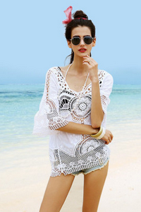 Joker in long coat Lace beach sun-protective clothing