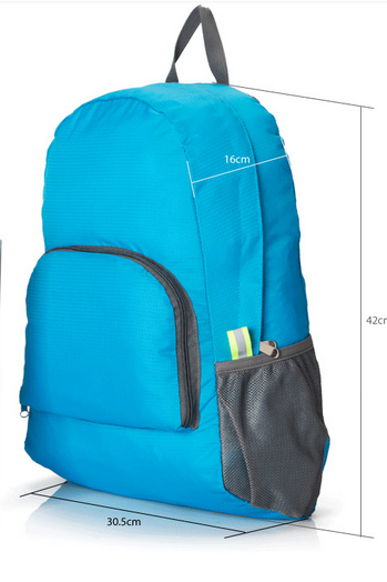 Outdoor portable foldable backpack backpack to travel