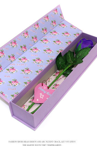 Christmas gifts Single roses soap flower gift box