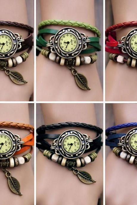 Handmade Vintage Style Leather Band Wrist Watch